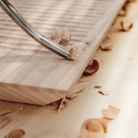 hand carved chopping board