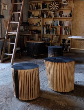 oak timber small tables